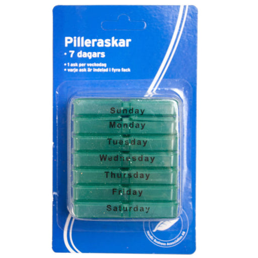 7 Day Pill Box in Tray - Wholesale Case PACK of 96 - AbillionZ