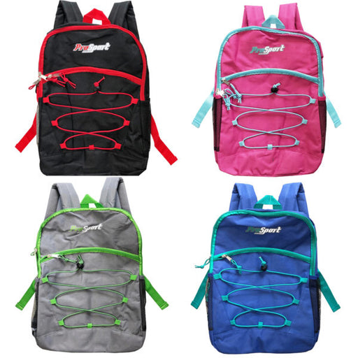 deluxe multi-pocket backpack with beverage pocket in assorte - Wholesale Case PACK of 8 - AbillionZ