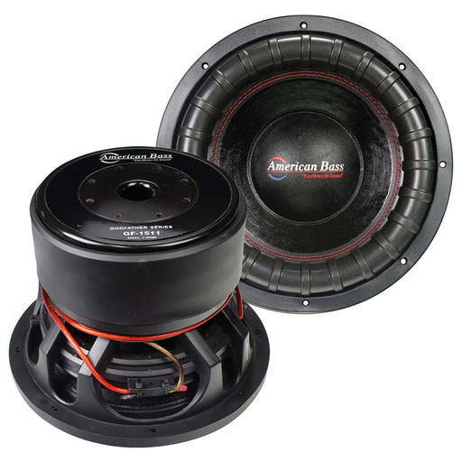 "American Bass Godfather 15"" 400 oz Magnet 4"" Voice Coil Dual 1 ohm"