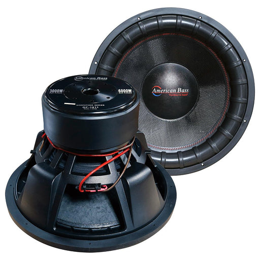 "American Bass Godfather 18"" 400 oz Magnet 4"" Voice Coil Dual 1 ohm - AbillionZ"