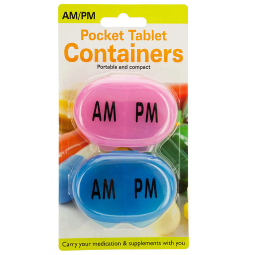 AM/PM Pocket Tablet Containers Set - Wholesale Case PACK of 96 - AbillionZ