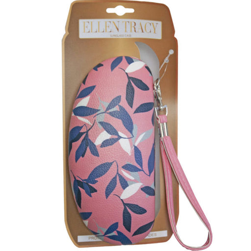 ellen tracy sunglasses case in coral and leaves design - Wholesale Case PACK of 48 - AbillionZ