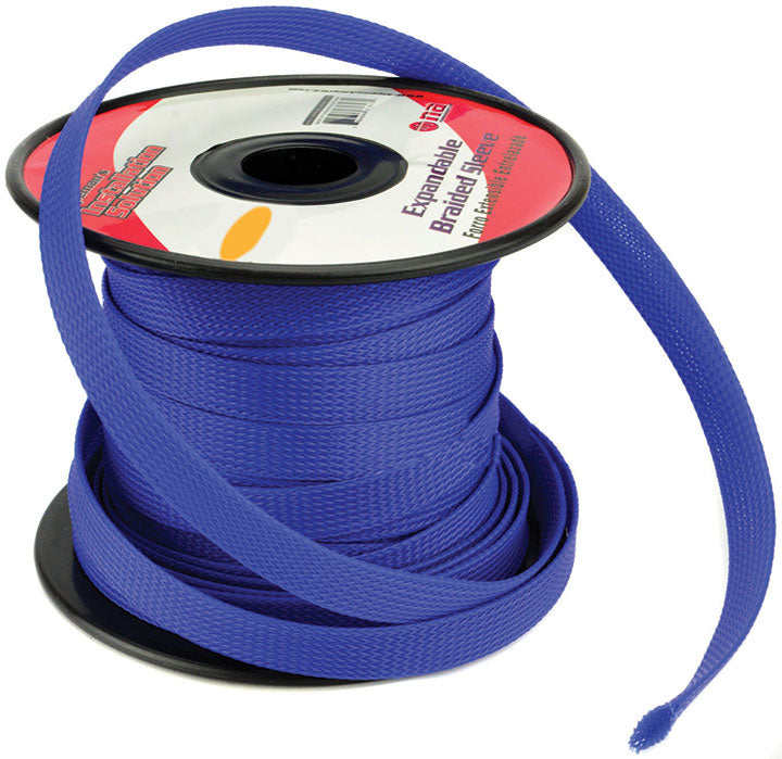"Installation Solution Expandable Braided Sleeve Blue 3/8"" - AbillionZ"