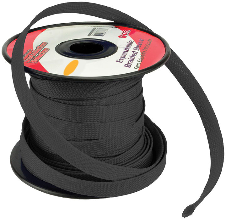 Installation Solution Expandable Braided Sleeve Black 3/4""