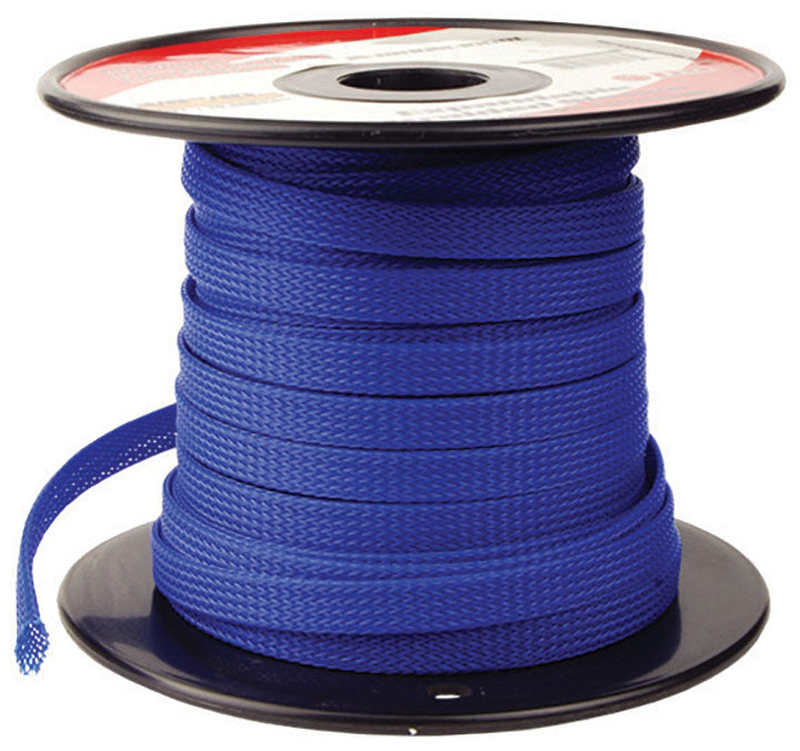"Installation Solution Expandable Braided Sleeve Blue 1/4"" - AbillionZ"