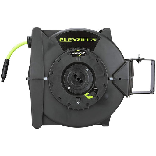 "Flexzilla Retractable Air Hose Reel with Levelwind Technology 3/8"" x 50' - AbillionZ"