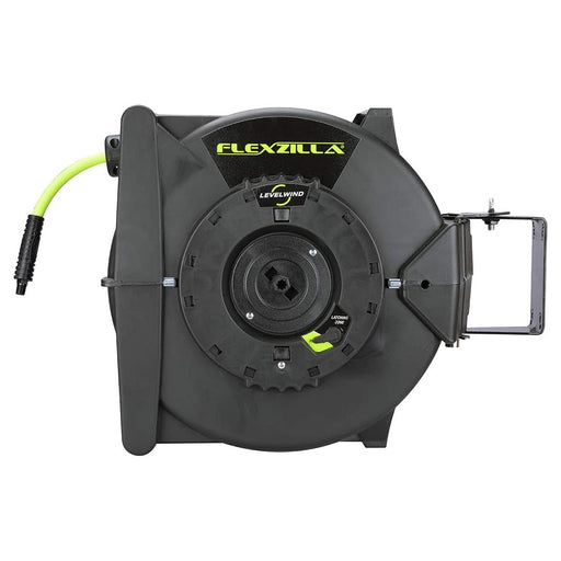 "Flexzilla Retractable Air Hose Reel with Levelwind Technology 3/8"" x 75' - AbillionZ"