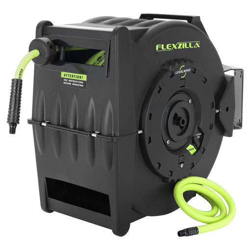 "Flexzilla Retractable Air Hose Reel with Levelwind Technology 1/2"" x 50' - AbillionZ"