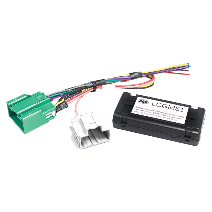 PAC Radio Replacement Interface for non-amplified 29-Bit GM LAN v2 vehicles with 20-Pin and 16-Pin - AbillionZ
