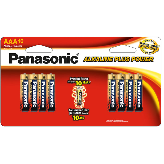 "Panasonic Alkaline Size ""AAA"" Plus Power (16-Pack)"