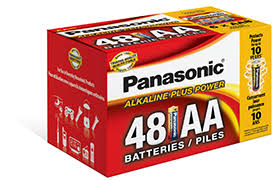 "Panasonic Alkaline Size ""AA"" Plus Power 1 box = 48 batteries Blister Box"