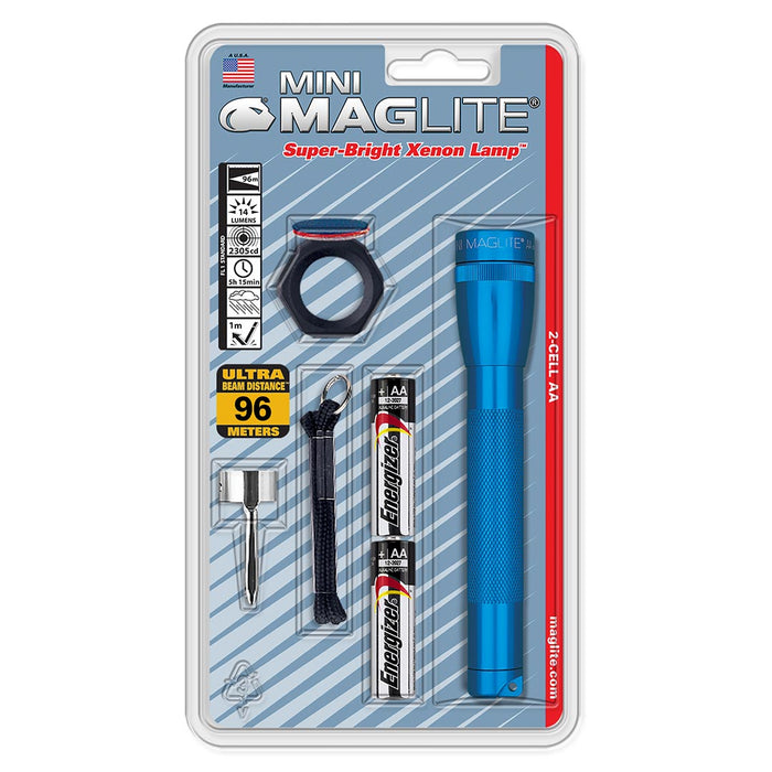 MAGLITE AA COMBO PACK BLUE-BLISTER PACK