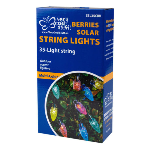 Balls and Berries Solar String Lights in Countertop Display - Wholesale Case PACK of 8 - AbillionZ