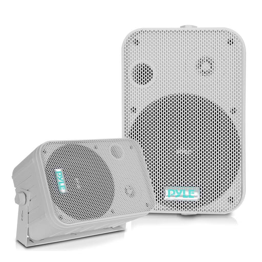 "SPEAKERS 6.5"" WHITE OUTDOOR PYLE PRO; PAIR - AbillionZ"