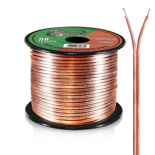 SPEAKER WIRE PYRAMID 16 GA. 50 FT. CLEAR
