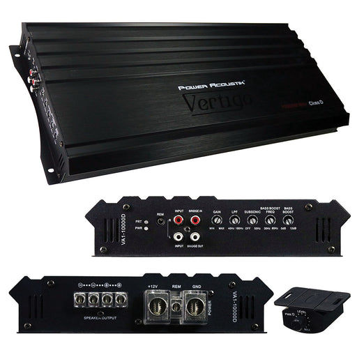 Power Acoustik Vertigo Series Monoblock Amplifier 10000W Max