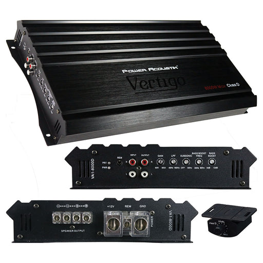 Power Acoustik Vertigo Series Monoblock Amplifier 8000W Max