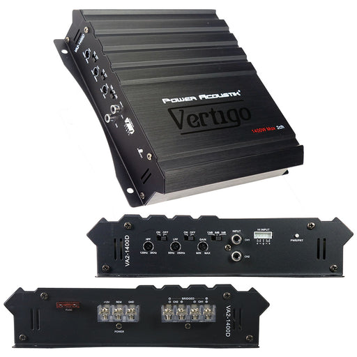 Power Acoustik Vertigo Series 2 Channel Amplifier 1400W Max
