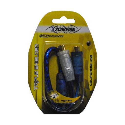 RCA SPLITTER XSCORPION 1M-2F BLUE;TRIPLE SHIELDED