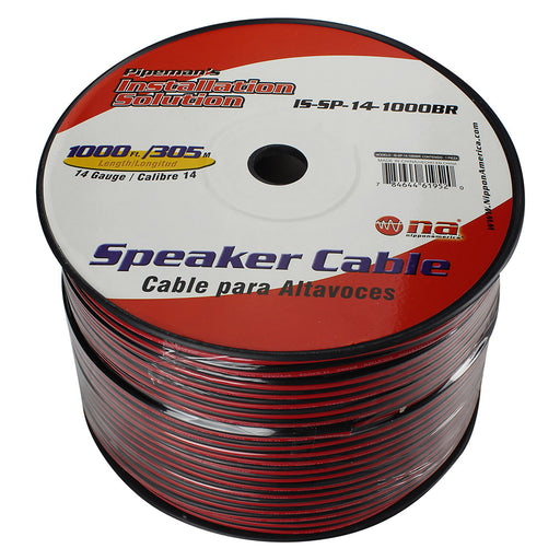 Pipeman's 14 Gauge Speaker Cable 1000Ft Black/Red jacket
