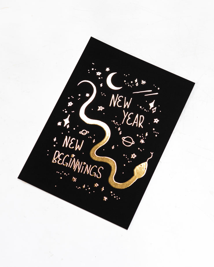 2021 New Beginnings Card