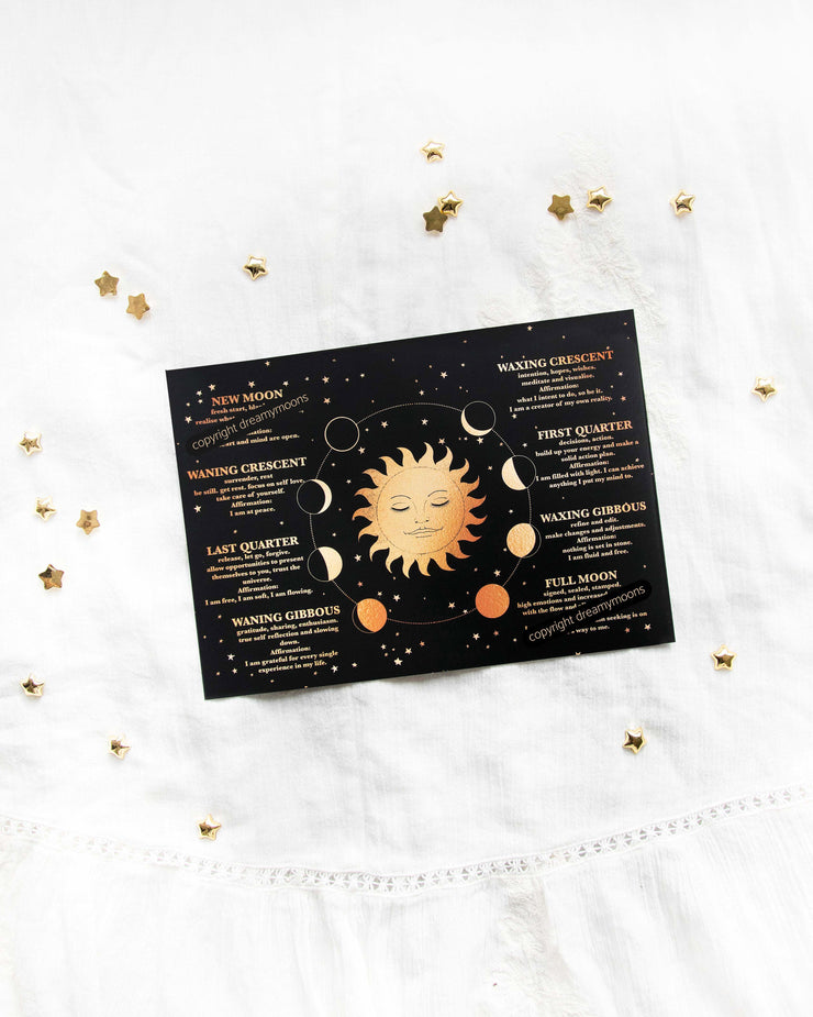South Hem - 2020 Lunar Calendar Card