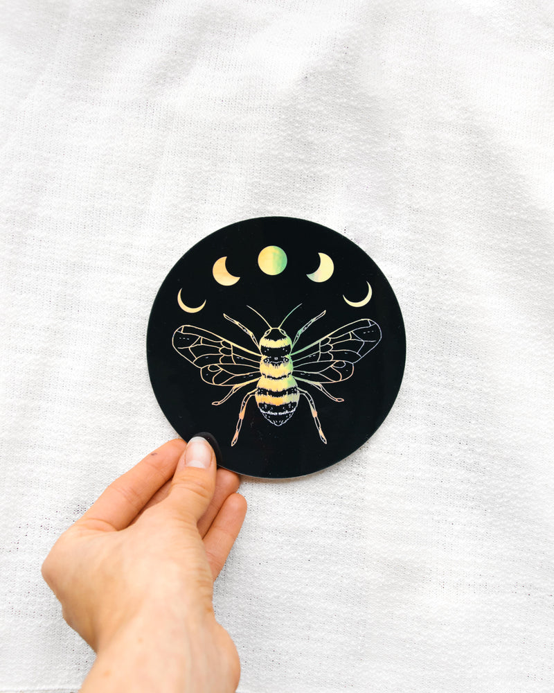 Lunar Bee Holo Sticker