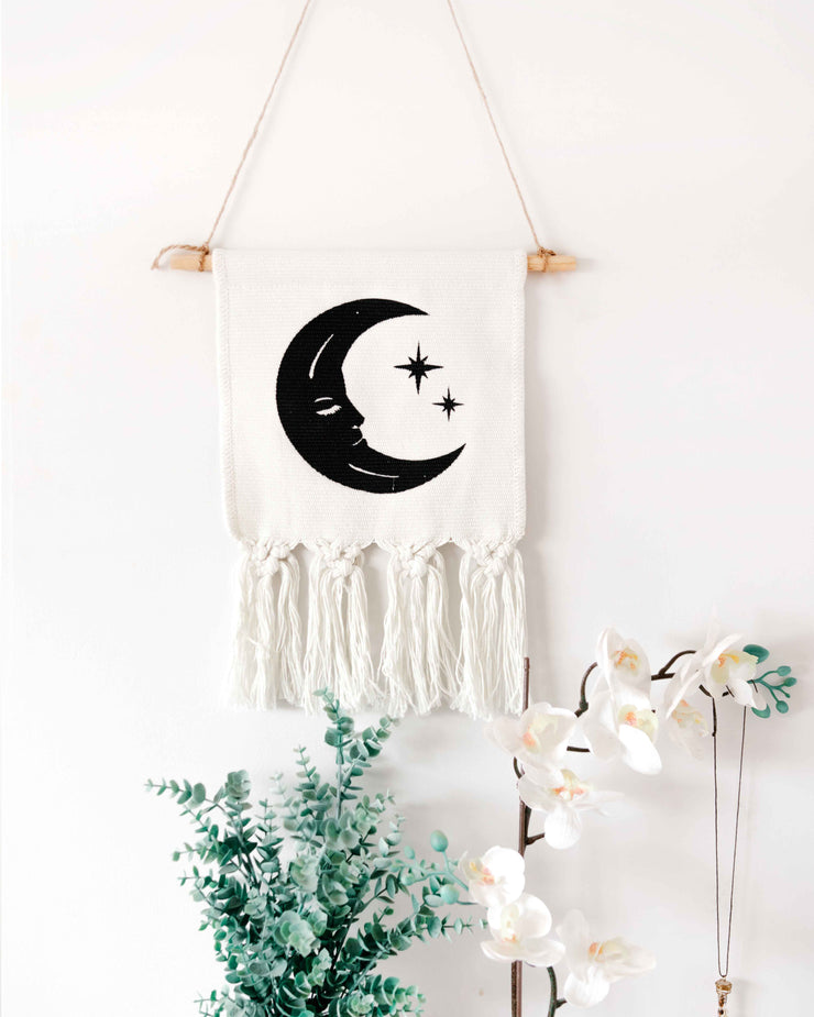 Moon Macrame Wall Hanging