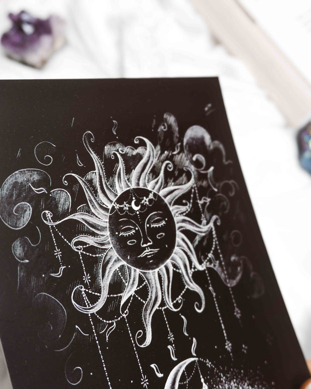 Sun and Moon Postcard