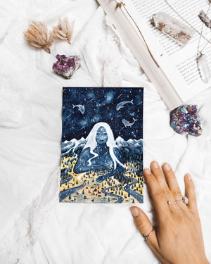 Moon Goddess Postcard