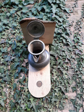 Load image into Gallery viewer, Pewter Coffee Pot Bird Nest Box or Feeder