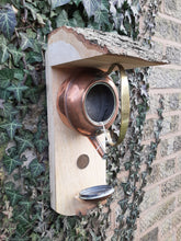 Load image into Gallery viewer, Small George 6th Copper Kettle bird feeder
