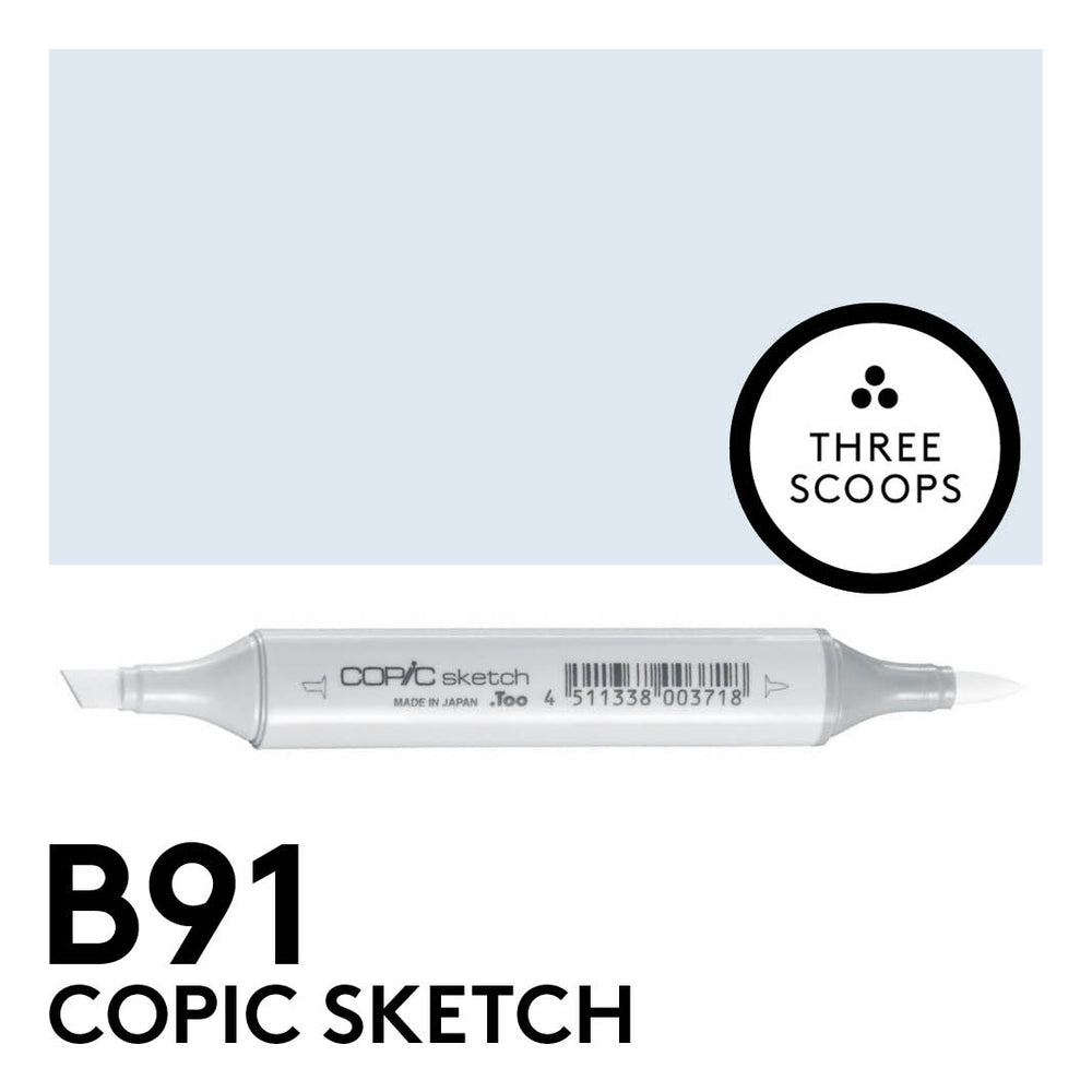 Copic Sketch B91 - Pale Grayish Blue