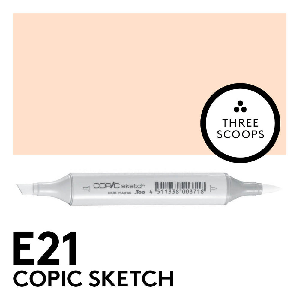 Copic Sketch E21 - Soft Sun