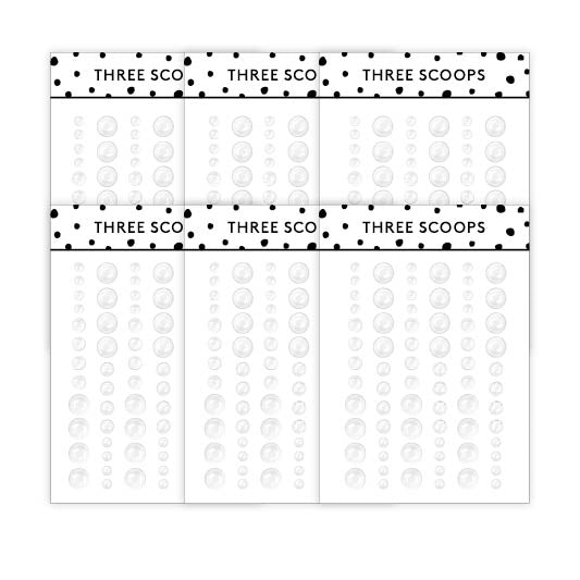 Enamel dots - Clear (6 pk)