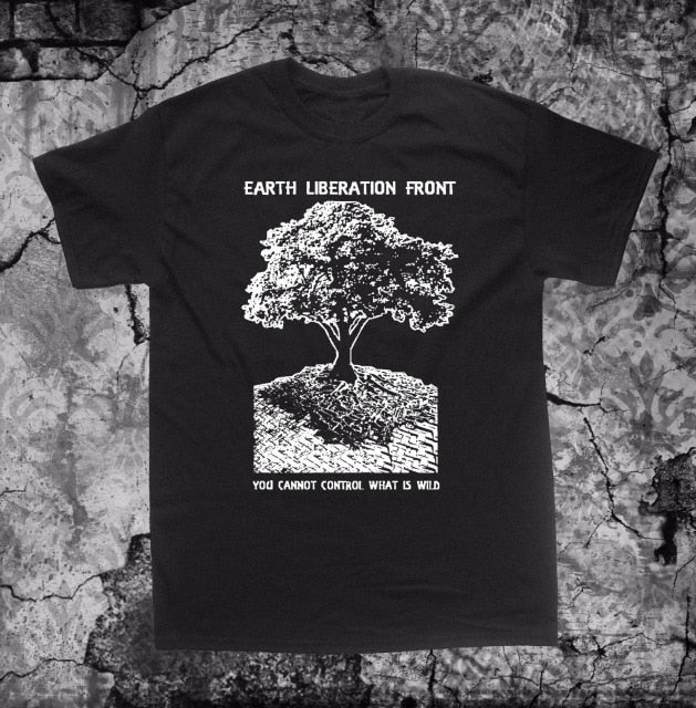 Earth Liberation Front Men Tee Shirt