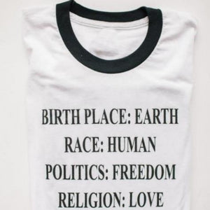 Birth Place Earth Women Tee Shirt