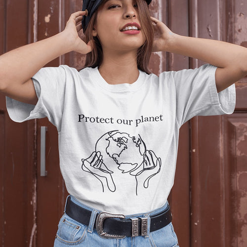 Protect Our Planet Graphic Women Tee Shirt