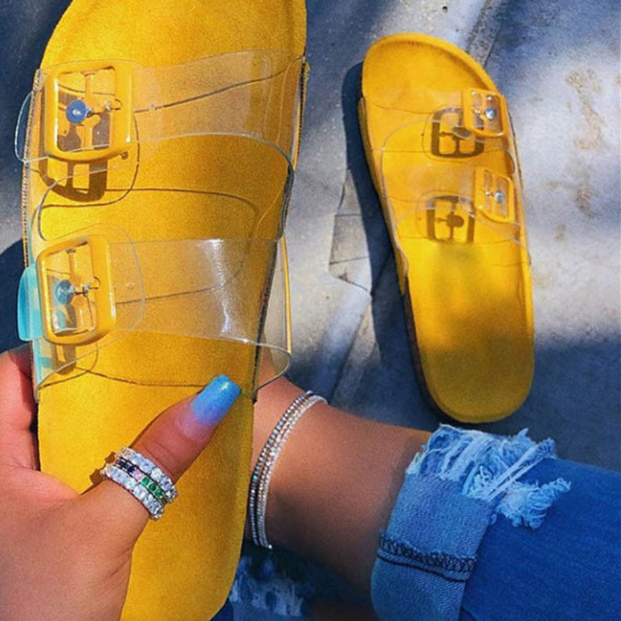 Yellow Slippers Sandles F142