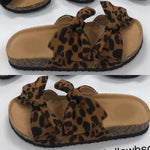 Load image into Gallery viewer, Summer Cute Bow Black Red Leopard Slides Sandles F141 - Furdela Wholesale