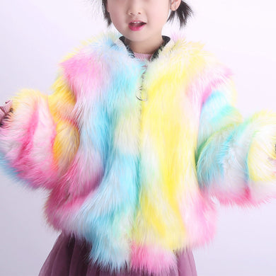 Kids Faux Fur Coat F350