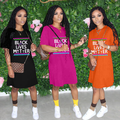 Black Lives Matter Casual Dress F840