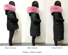 Fashion Fox Fur Luxury Collar Parka DF005 - DelaFur Wholesale