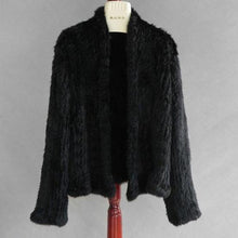 Knitted Rabbit Fur Coat - DelaFur Wholesale