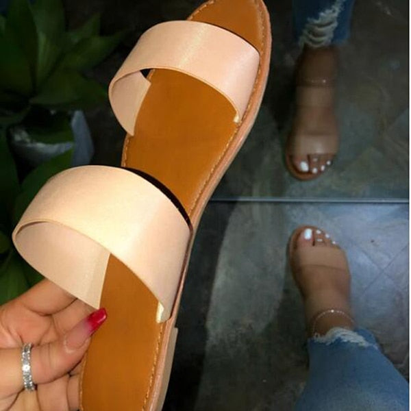 5 Colors Beach Sandals Slippers F714 - Furdela Wholesale
