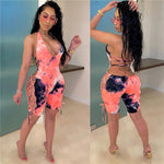 Load image into Gallery viewer, Sexy Tie Dye Playsuit Women Backless Skinny Romper F604 - Furdela Wholesale