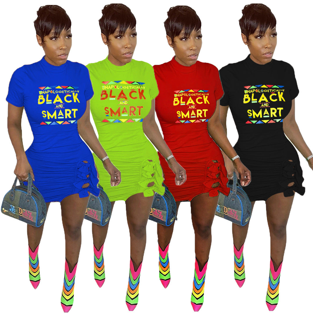 Black Lives Matter Stacked Dress F771 - Furdela Wholesale
