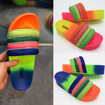 Load image into Gallery viewer, Rainbow Platform Slippers F744 - Furdela Wholesale