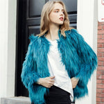 Load image into Gallery viewer, Fashion Winter Warm Long Sleeve Furry Fur Coat DE263 - Furdela Wholesale