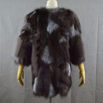 Load image into Gallery viewer, Mixcolored Fox Fur Coat - Furdela Wholesale